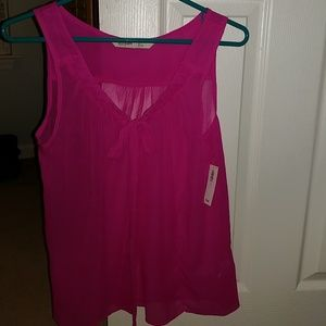 Brand new fuchsia sleeveless blouse
